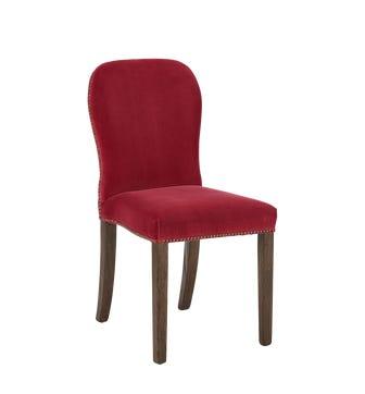 Stafford Velvet Chair - Blood Orange