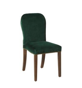 Stafford Velvet Dining Chair - Midnight Green