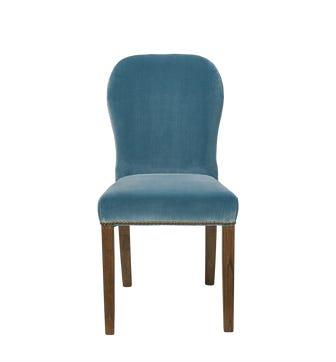 Stafford Velvet Dining Chair - Air Force Blue