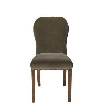Stafford Velvet Dining Chair - Truffle