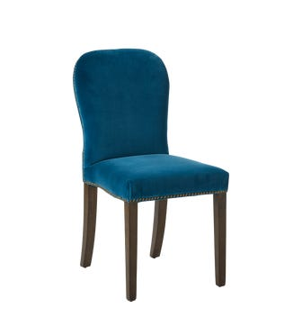 Stafford Velvet Dining Chair - Sea Blue