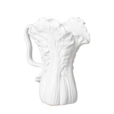 Stoneware Chinese Cabbage Jug - White