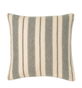 Stringa Stripe Linen Cushion Cover, Large - Grey