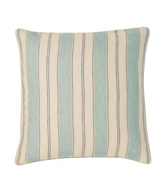 Stringa Stripe Linen Cushion Cover, Large - Pale Blue