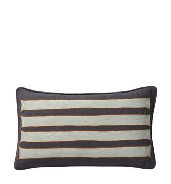 Sumi Cushion Cover (60x35cm) - Onyx/Grey Blue