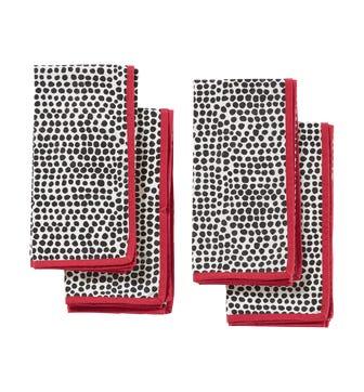 Tachete Napkins Set of 4 - Dalmation/Red