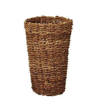 Tall Anguilla Woven Basket - Natural
