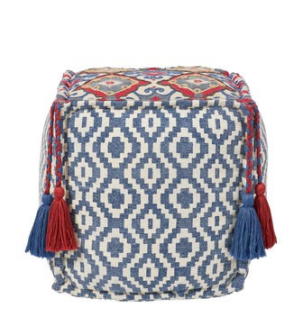 Tantallon Floor Cushion - Blue