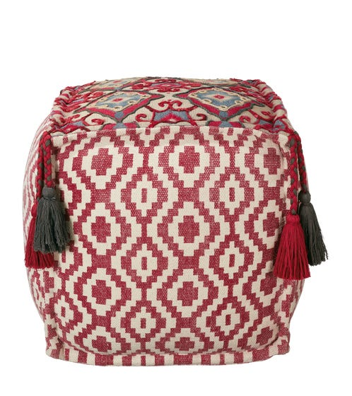 Tantallon Floor Cushion - Red