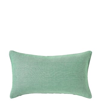 Plain Colours Linen Cushion Cover, Small - Blue