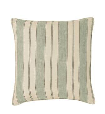 Stringa Stripe Linen Cushion Cover, Large - Shagreen