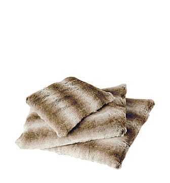 Small Faux Fur Pet Cushion Cover - Pampas Fox