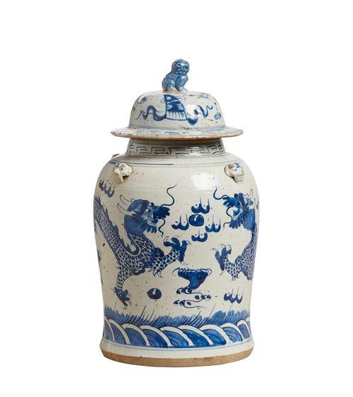 Tianlong Lidded Jar
