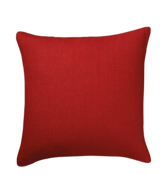 Tight Weave Linen Cushion Cover, Large - Maple Red