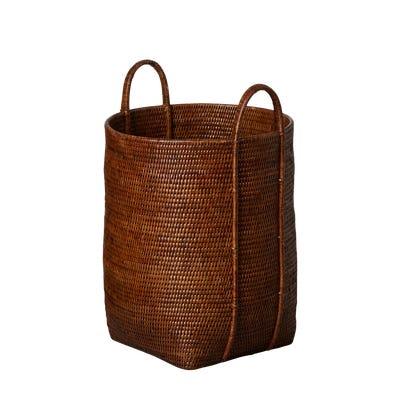 Tisser Rattan Laundry Basket - Brown