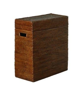 Tisser Rattan Lidded Basket - Brown