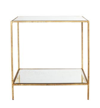 Triomphe Side Table - Antiqued Mirror