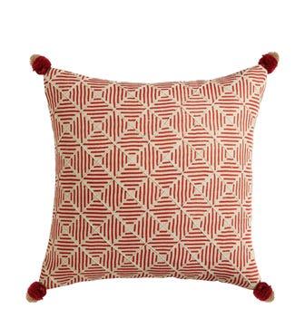 Tuli Tasseled Pillow Cover - Paprika