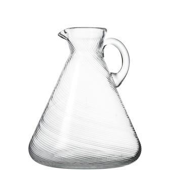 Twisted Glass Jug - Clear