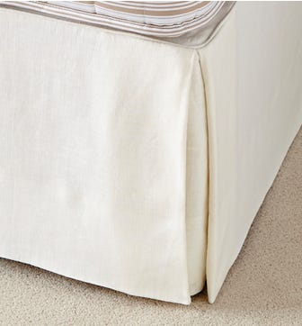 Bed Valance Linen, Single - Off White