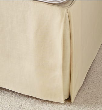 Bed Valance Cotton, Single - Oatmeal