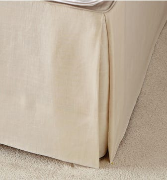 Bed Valance  Cotton, Double - Natural