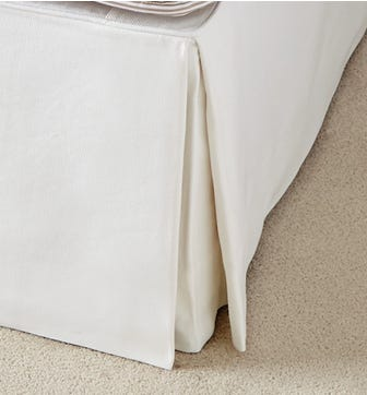 Bed Valance  Cotton, Double - White