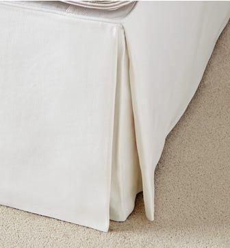 Bed Valance  Linen, Super King - White
