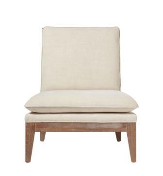 Vasa Linen Lounge Chair - Natural