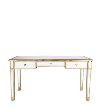 Versailles Desk / Dressing Table - Antiqued Mirror