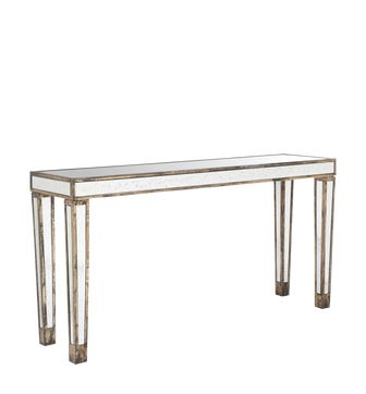 Versailles Mirrored Console Table, Large - Glass
