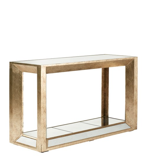 Versailles Small Console Table - Antiqued Mirror