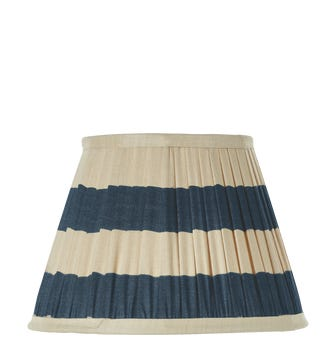 Warna Silk Pleated Lampshade 25cm - Dark Blue