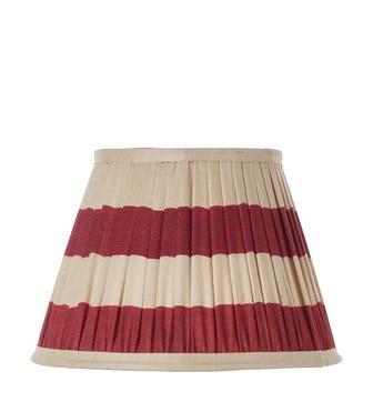 Warna Silk Pleated Lampshade 25cm - Red