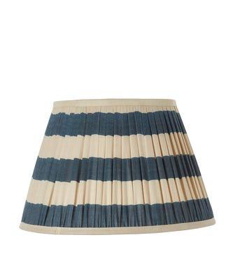 Warna Silk Pleated Lampshade 35cm - Dark Blue