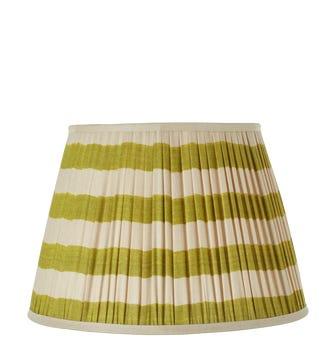 Warna Silk Pleated Lampshade 45cm - Lime