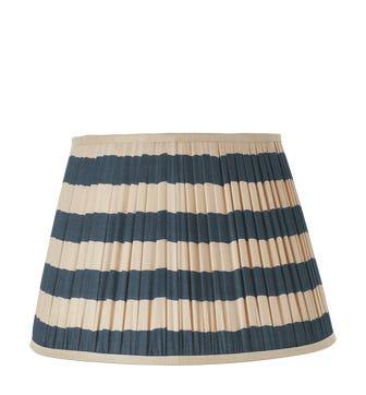 Warna Silk Pleated Lampshade 45cm - Dark Blue