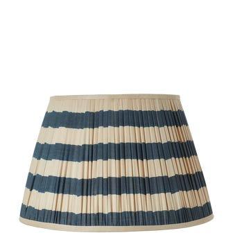 Warna Silk Pleated Lampshade 50cm - Dark Blue