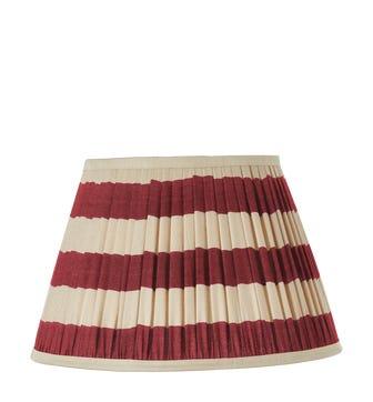Warna Silk Pleated Lampshade 50cm - Red