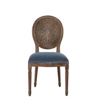 Washakie Velvet Chair - Airforce Blue