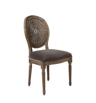 Washakie Velvet Chair - Truffle