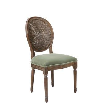Washakie Velvet Chair - Lake Green