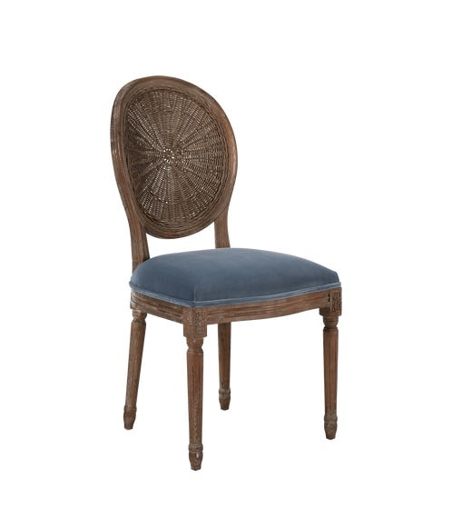 Washakie Velvet Dining Chair - Air Force Blue