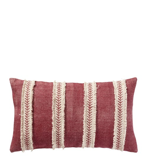 Watelet Pillow Cover - Pink/White