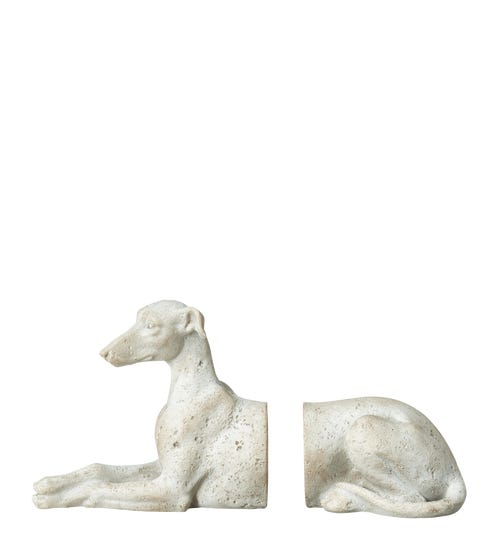 Whippet Bookends - Grey