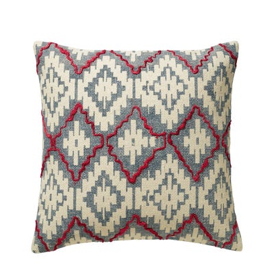 Yaqui Cushion Cover, Large - Blue/Red