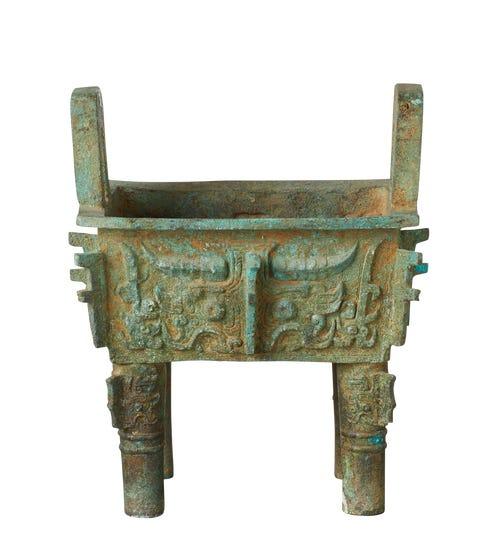 Yichun Decorative Cauldron - Verdigris