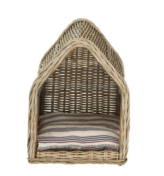 Patiner Rattan Dog Bed Large - Stone Grey