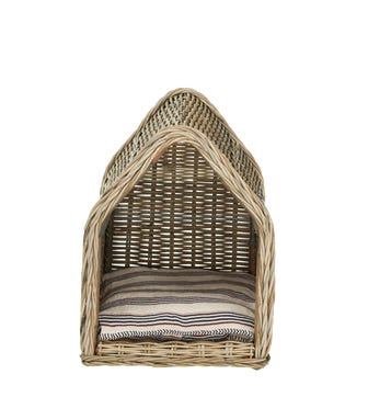 Patiner Rattan Dog Bed Small - Stone Grey