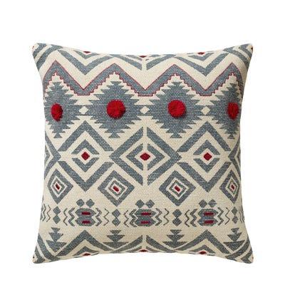 Yuma Cushion Cover, Large - Blue/Red